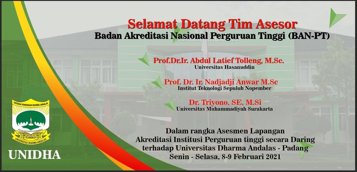 Akreditasi, Unidha, Universitas Dharma Andalas, Kampus Swasta Terbaik Sumatera Barat, Info Sumbar