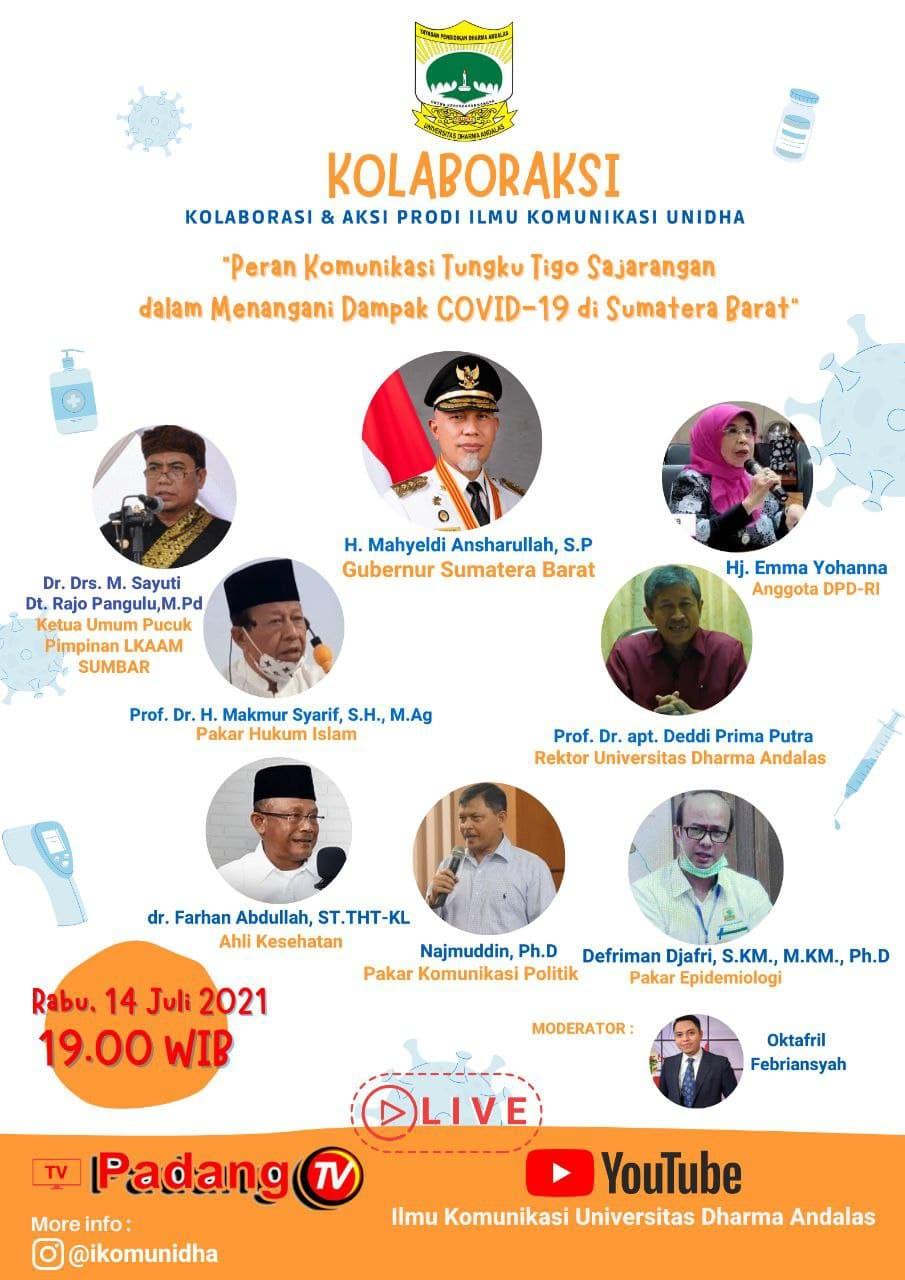 Live Talkshow, PadangTV, kampus terbaik sumbar, ilmu komunikasi terbaik sumbar, ilmu komunikasi, sumatera barat, info sumbar, dharma andalas, universitas dharma andalas